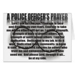 A POLICE OFFICER'S PRAYER CARDS