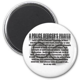 A POLICE OFFICER'S PRAYER REFRIGERATOR MAGNETS