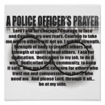 A POLICE OFFICER'S PRAYER POSTER
