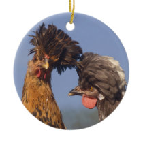 A Polish Chicken Christmas Ceramic Ornament
