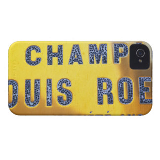 A polished brass sign at the winery of Louis iPhone 4 Cases