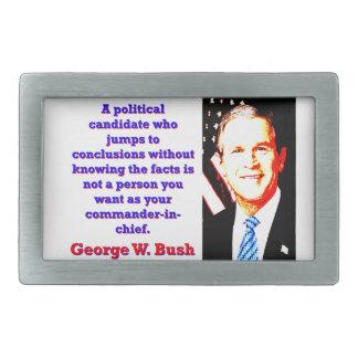 A Political Candidate Who Jumps - G W Bush Belt Buckle
