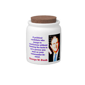 A Political Candidate Who Jumps - G W Bush Candy Jars
