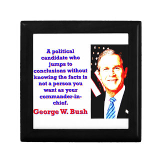 A Political Candidate Who Jumps - G W Bush Jewelry Box