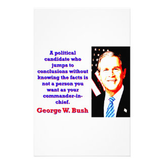 A Political Candidate Who Jumps - G W Bush Stationery