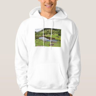 A Pond With Small Wooden Bench Hoody