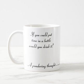 A pondering thought... classic white coffee mug