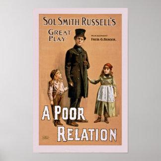 A Poor Relation Vintage Poster