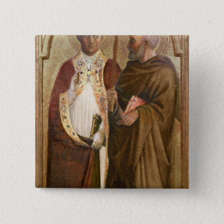 A Pope  and St. Matthias, c.1428-29 Pinback Button