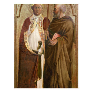 A Pope  and St. Matthias, c.1428-29 Postcard