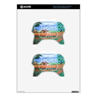 A Poppy Field Xbox 360 Controller Skin