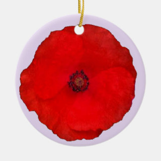 A Poppy in Remembrance Ornament