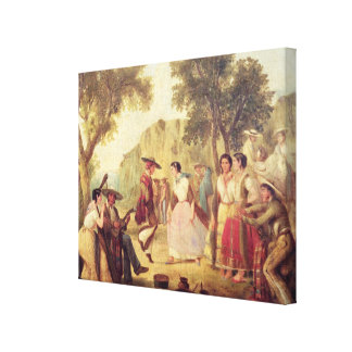 A Popular Dance Canvas Print