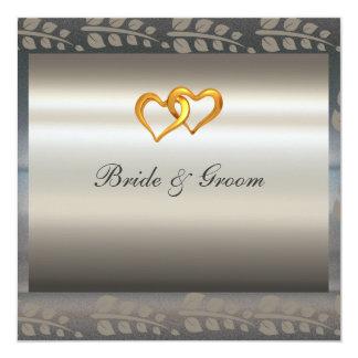 A Popular Elegant Silver Wedding Invitation Custom Announcements