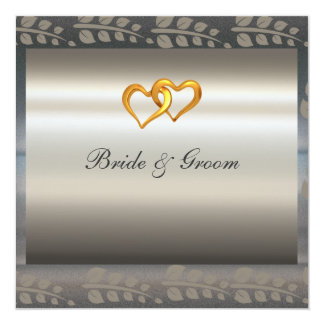 "A Popular Elegant Silver Wedding Invitation 5.25"" Square Invitation Card"