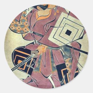 A popular hero Shi by Torii Kiyomasu d Ukiyoe Stickers