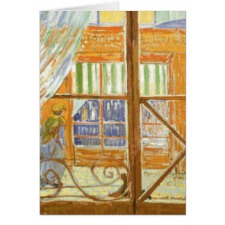 A Pork Butcher's Shop Window by Vincent van Gogh Card
