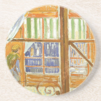 A Pork Butcher's Shop Window by Vincent van Gogh Coaster