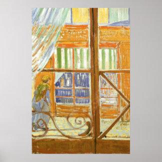 A Pork Butcher's Shop Window by Vincent van Gogh Poster