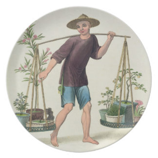 A Porter with Fruit Trees and Flowers plate 16 fr