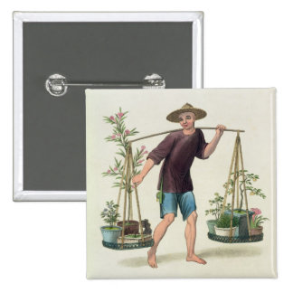 A Porter with Fruit Trees and Flowers, plate 16 fr Button