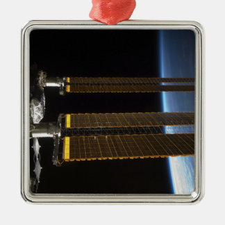 A portion of the International Space Station 2 Metal Ornament