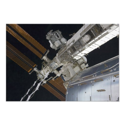 A portion of the International Space Station 3 Photo Art