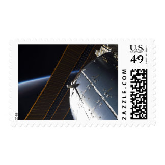 A portion of the International Space Station Postage Stamp