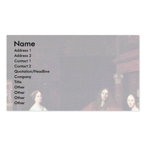 A Portrait Of A Family Holändischen By Ochtervelt Business Cards