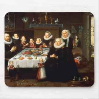 A Portrait of a Family saying Grace Before a Meal Mouse Pad