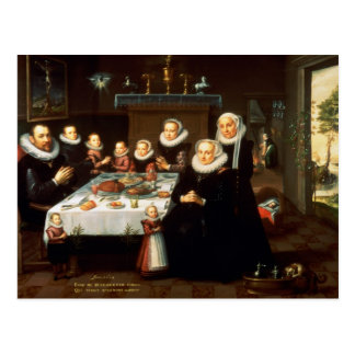 A Portrait of a Family saying Grace Before a Meal Postcard