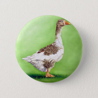 A Portrait of a Goose Pinback Button