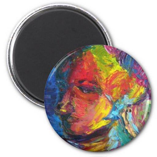 A Portrait of an artist 2 Inch Round Magnet