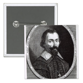A portrait of Claude Maugis, advisor to Marie 2 Inch Square Button