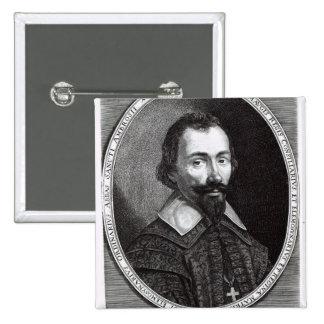 A portrait of Claude Maugis, advisor to Marie Pinback Button