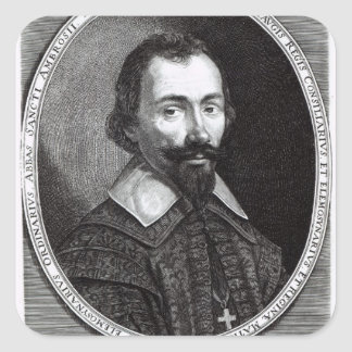 A portrait of Claude Maugis, advisor to Marie Square Sticker