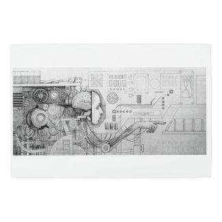 a portrait of determinism metal photo print
