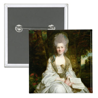 A Portrait of Dorothy Vaughan 2 Inch Square Button