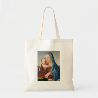 A Portrait of Mary and Baby Jesus Tote Bag