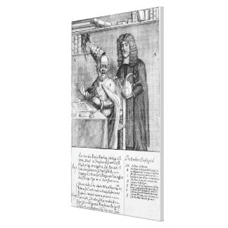 A Portrayal of Titus Oates Canvas Print
