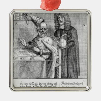 A Portrayal of Titus Oates Square Metal Christmas Ornament