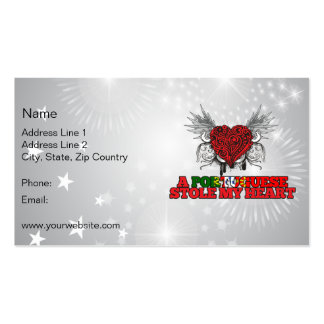 A Portuguese Stole my Heart Double-Sided Standard Business Cards (Pack Of 100)