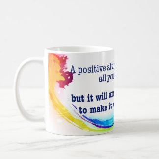 a positive attitude coffee mug