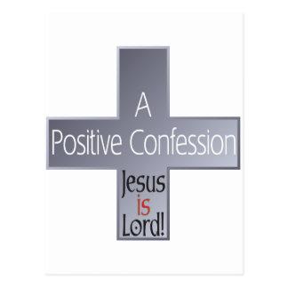 A Positive Confession Postcard