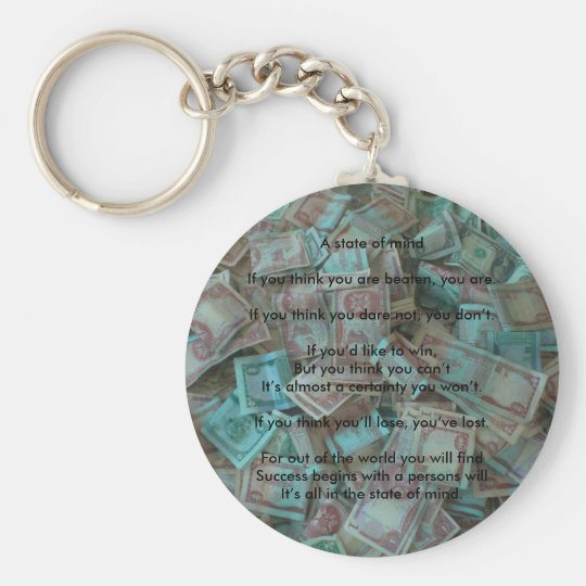 A Positive State of Mind Keychain