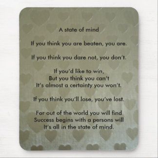 A Positive State of Mind Mouse Pad