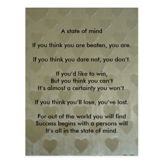 A Positive State of Mind Postcard