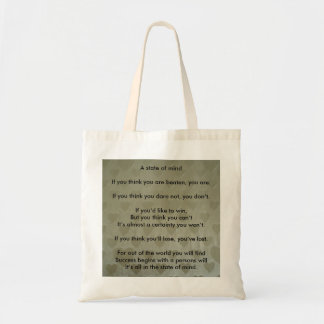 A Positive State of Mind Tote Bag