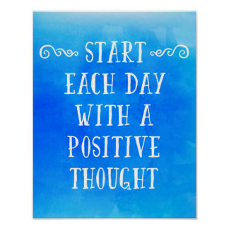 A Positive Thought Poster
