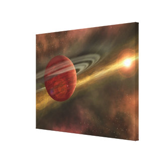 A possible newfound planet gallery wrapped canvas